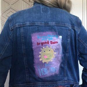 Super cute jean jacket!